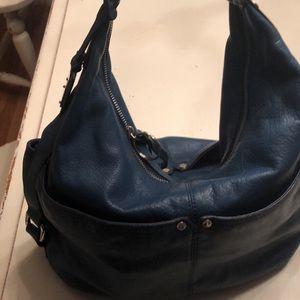 Tignanello blue leather bag